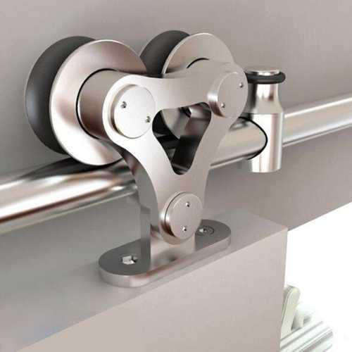 Stainless Steel Sliding Wood Barn Door Hardware Kit SH-SS-0009