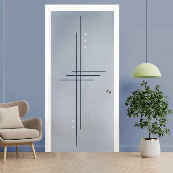 Pocket Glass Barn Door (Model PSGD-0054 Semi-Private)