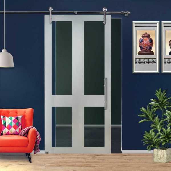 ++Sales Offers++ Sliding Glass Barn Door SGD-V1000-0149