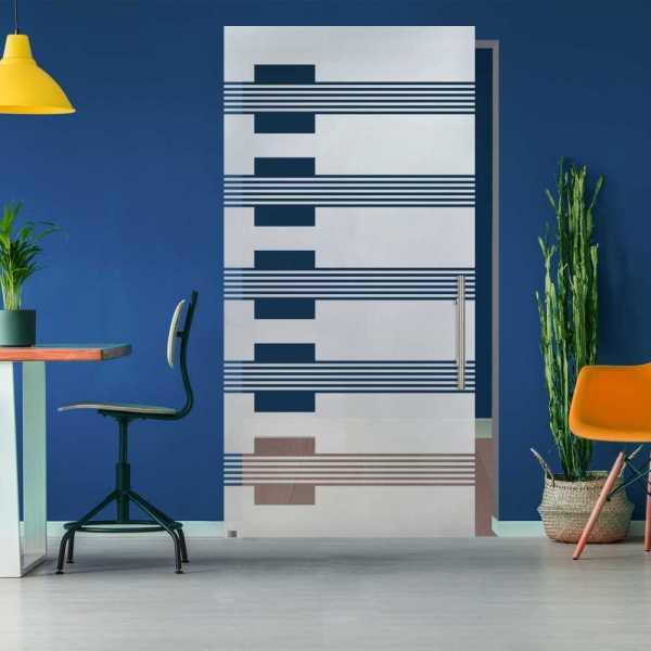 Glass Barn Door (Model SGD-ALU100-0321 Semi-Private)