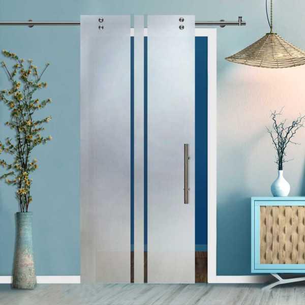 Glass Barn Door (Model SGD-V2000-0414 Semi-Private)