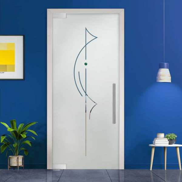 Pivot Glass Door (Model PD-0010 Semi-Private) with Handle Bar