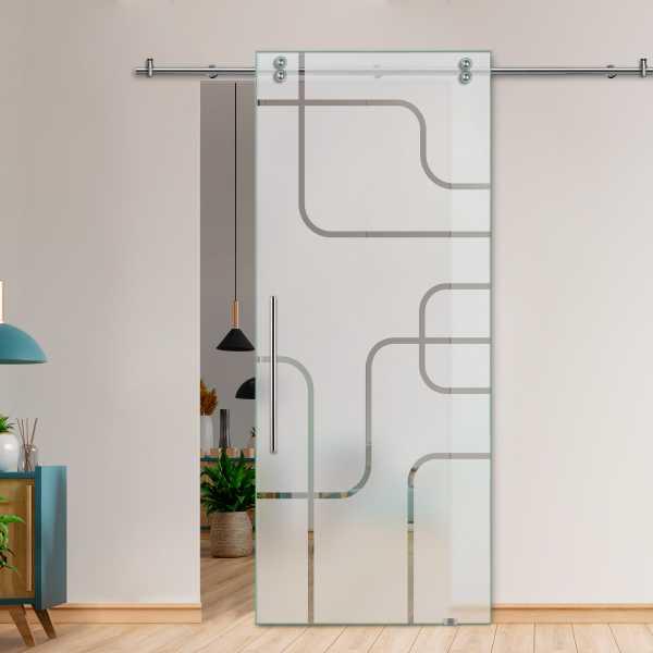 Glass Barn Door (Model SGD-V2000-0052 Semi-Private)