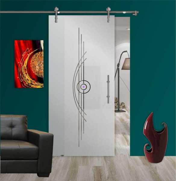 Sliding Glass Barn Door SGD-V1000-0176 semi-private