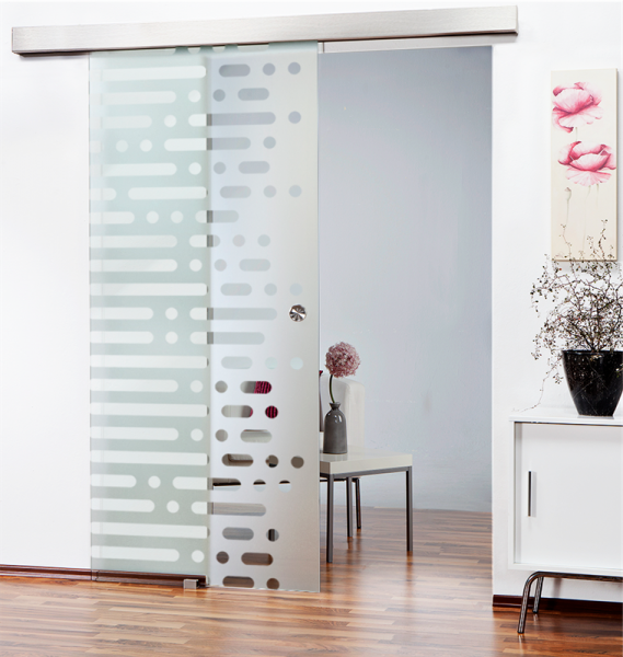 Sliding Glass Barn Door SGD-ALU100-0132 semi-private
