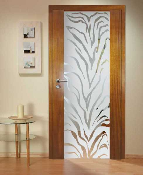 Solid Wood Hinged Door with Glass Insert HWDI-0016