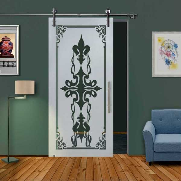 Glass Barn Door (Model SGD-V1000-0321 Semi-Private)