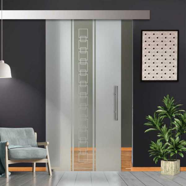 Glass Barn Door (Model SGD-ALU100-0244 Semi-Private)