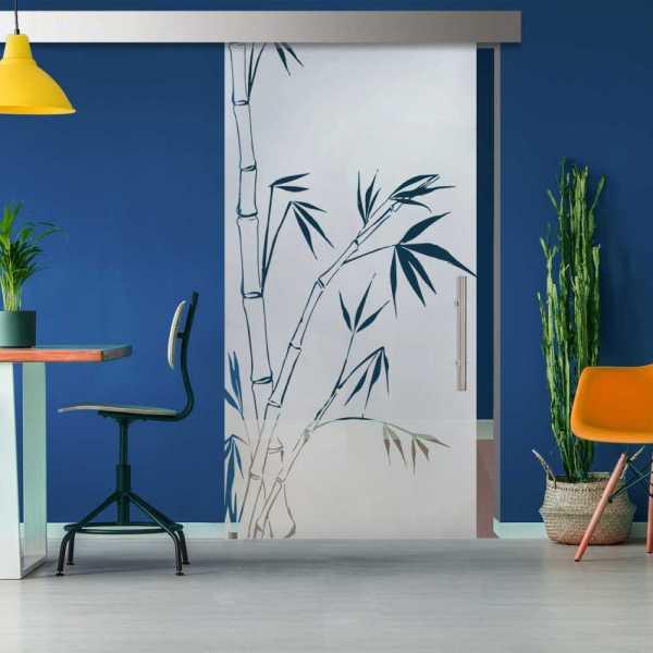 Glass Barn Door (Model SGD-ALU100-0326 Semi-Private)