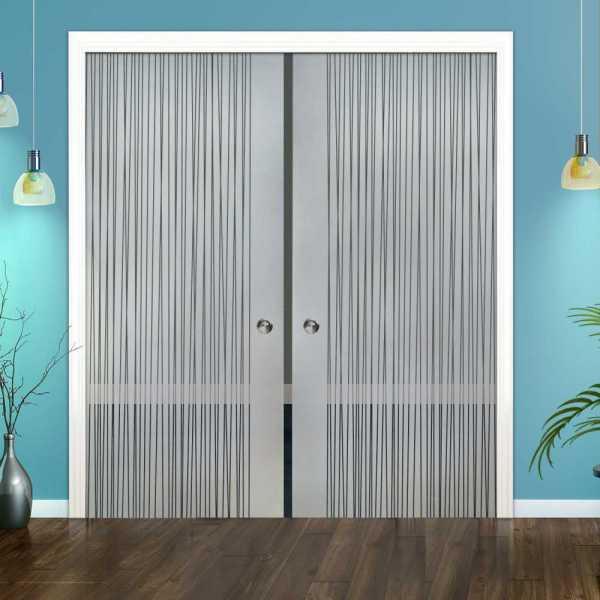 Double Pocket Glass Barn Door (Model DPSGD-0117 Semi-Private)_Recessed Grip Handle