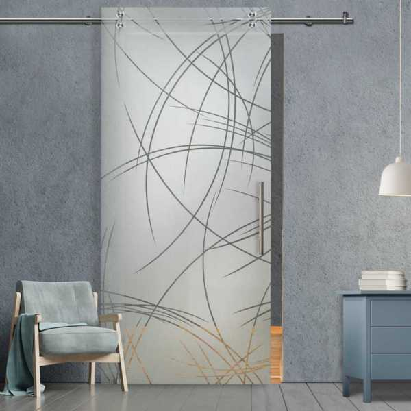 Glass Barn Door (Model SGD-V2000-0066 Semi-Private)