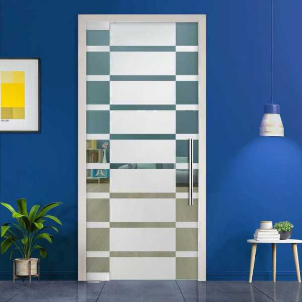 Pivot Glass Door (Model PD-0043 Semi-Private) with Handle Bar