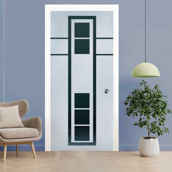 Pocket Glass Barn Door (Model PSGD-0078 Semi-Private)