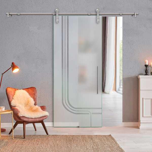 Glass Barn Door (Model SGD-V1000-0308 Semi-Private)