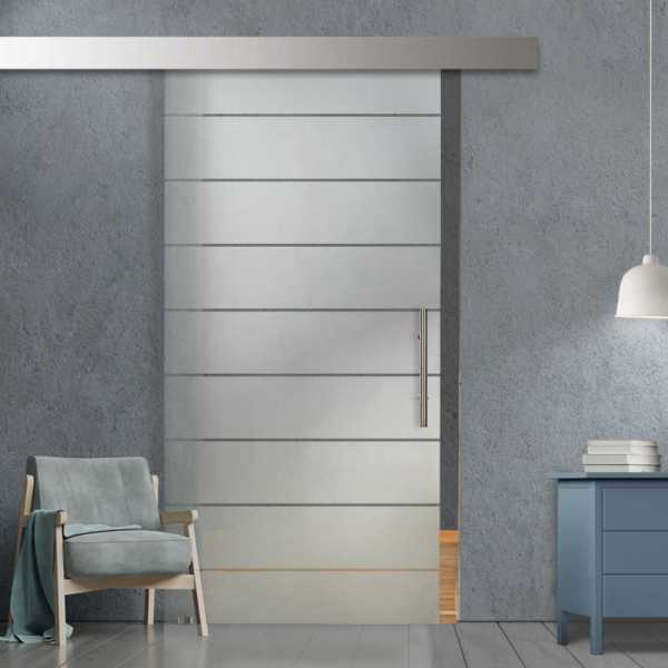 Glass Barn Door (Model SGD-ALU100-0082 Semi-Private)