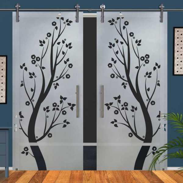 Double Glass Barn Door (Model DSGD-V1000-0073 Semi-Private)