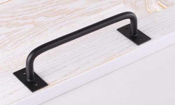 Retro Black Steel Handle for Wood Doors