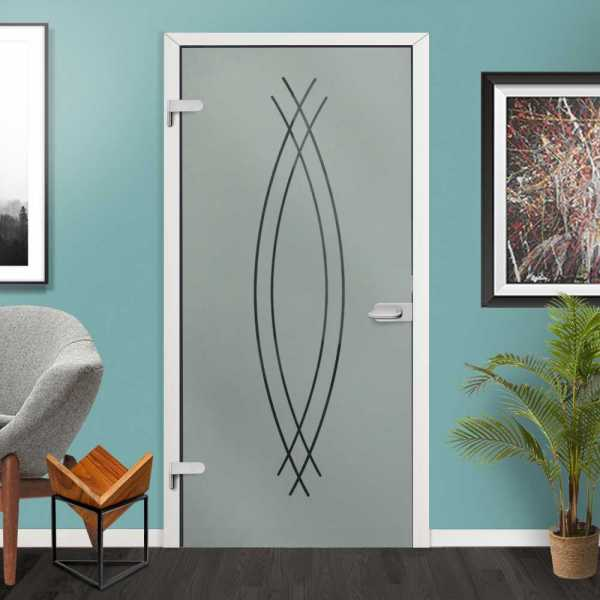 Hinged Glass Door HGD-H+H-0013 (Semi-Private)