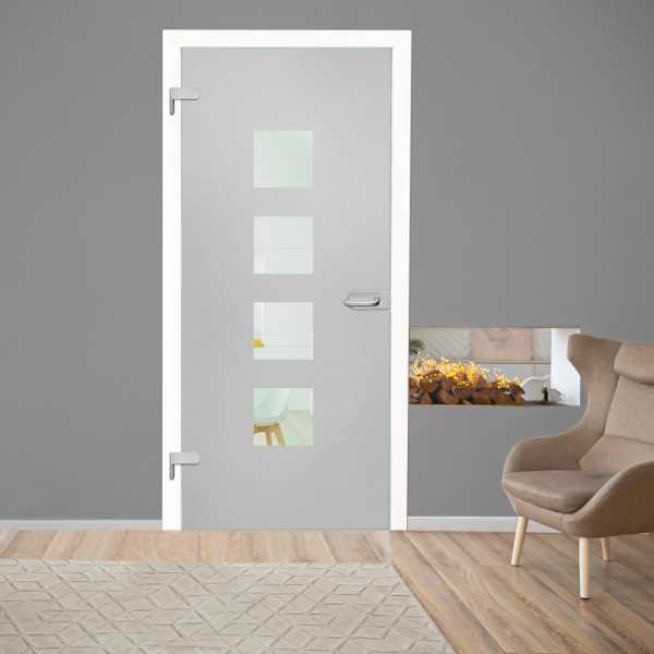 Hinged Glass Door (Model HGD-H+H-0041 Semi-Private)