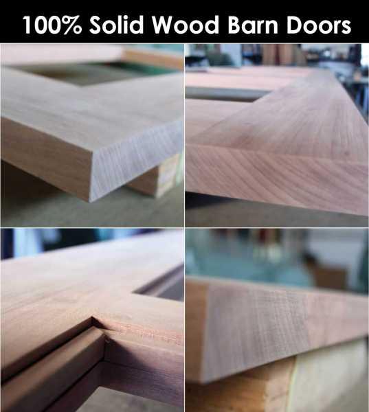 100% Solid Wood Barn Doors