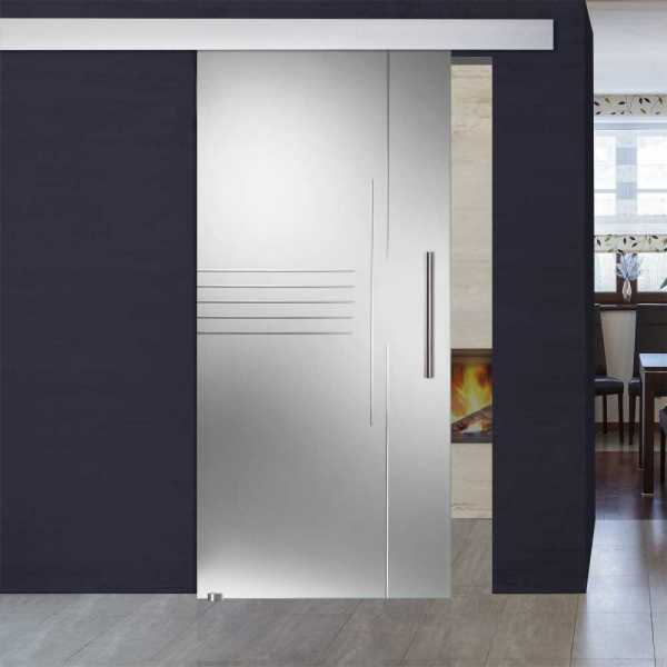 single sliding glass barn door sgd alu100 0019 - Glass Barn Doors
