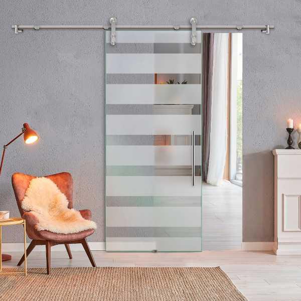 Glass Barn Door (Model SGD-V1000-00001 Semi-Private)
