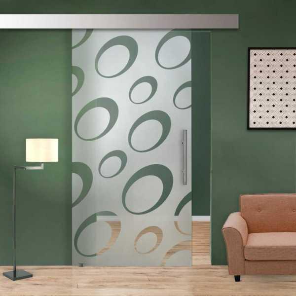 Glass Barn Door (Model SGD-ALU100-0035 Semi-Private)