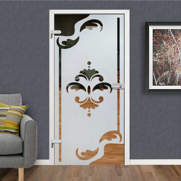 Hinged Glass Door HGD-H+H-0098 (Semi-private)