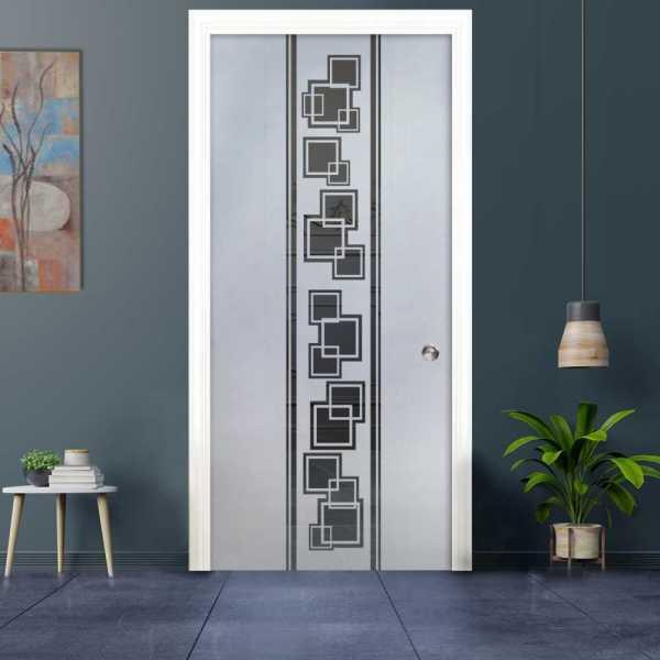 Pocket Glass Barn Door (Model PSGD-0044 Semi-Private)