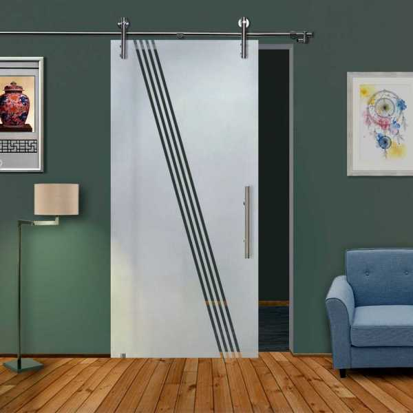 Glass Barn Door (Model SGD-V1000-0307 Semi-Private)