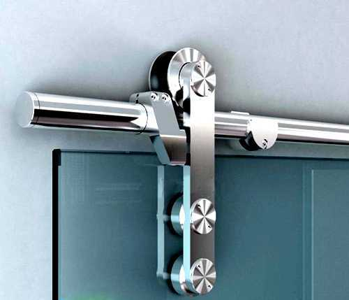 V1000 Stainless Steel Sliding Glass Barn Door Hardware Kit SH-SS-0001