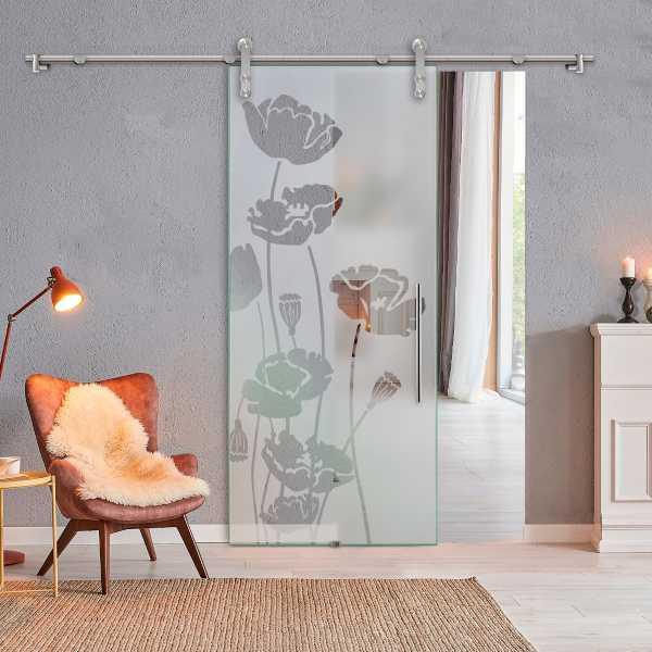 Glass Barn Door (Model SGD-V1000-0300 Semi-Private)
