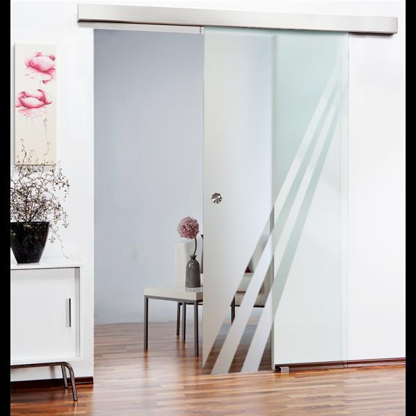 Glass Barn Door SGD-ALU100-0107 Semi-Private