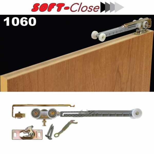 Soft Close Kit for Bypass Closet Door --Single Direction--