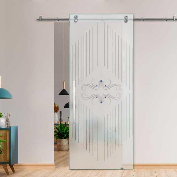 Glass Barn Door (Model SGD-V2000-0080 Semi-Private)