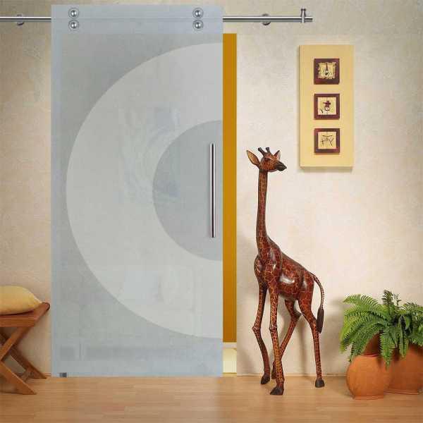 Single Sliding Barn Glass Door SGD-V2000-0241