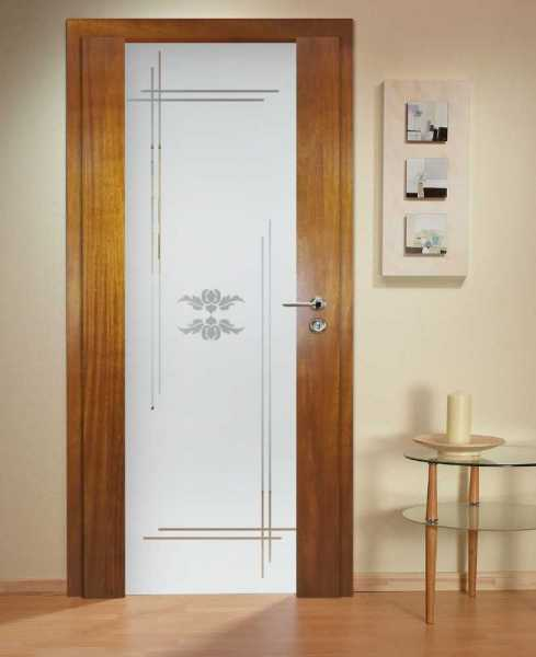 Solid Wood Hinged Door with Glass Insert HWDI-0018