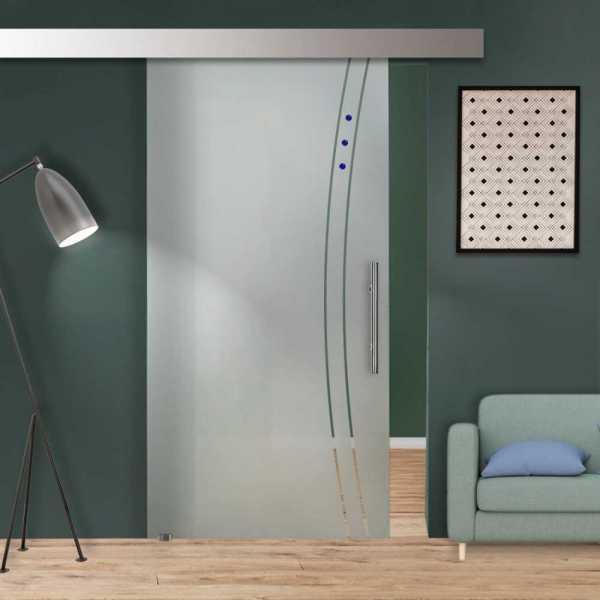 Single Sliding Glass Barn Door SGD-ALU100-0258