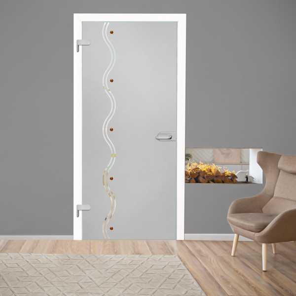 Hinged Glass Door (Model HGD-H+H-0077 Semi-Private)