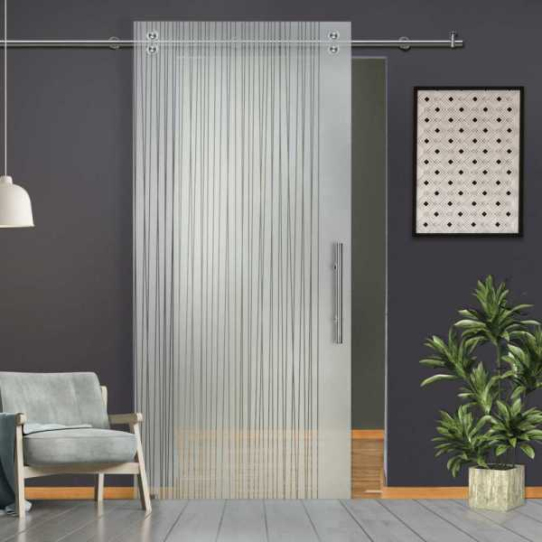 Single Sliding Barn Glass Door SGD-V2000-0221
