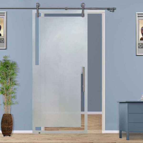 ++Sales Offers++ Sliding Glass Barn Door SGD-V1000-0020