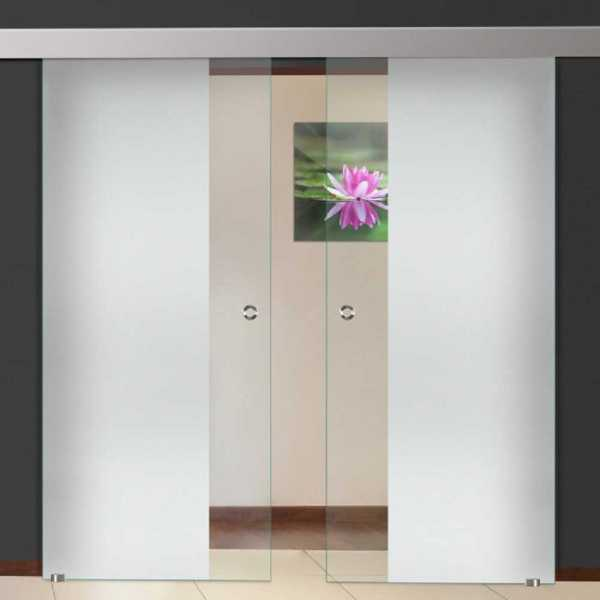 Two sliding glass barn doors with sliding system partially two sliding glass barn doors with sliding system partially frosted sandblasted planetlyrics Image collections