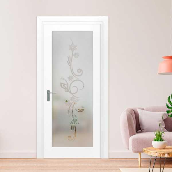 1 Lite Interior Door with Glass Insert (Model 1LID-0004 Semi-Private)
