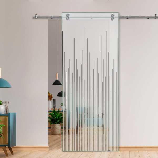 Single Sliding Barn Glass Door SGD-V2000-0037