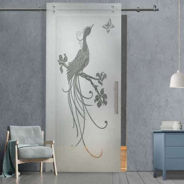 Glass Barn Door (Model SGD-V2000-0038 Semi-Private)