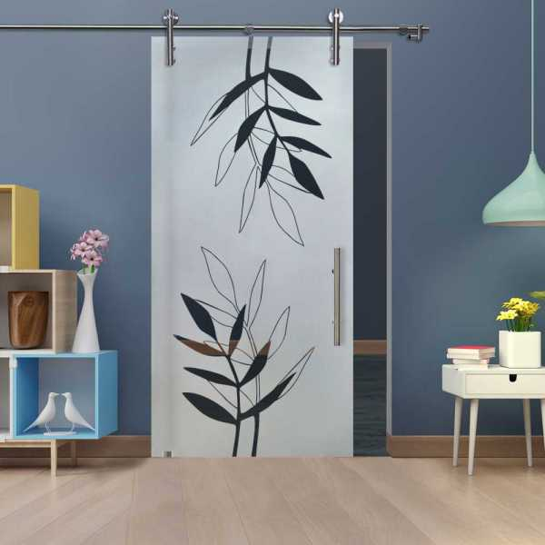 Glass Barn Door (Model SGD-V1000-0326 Semi-Private)