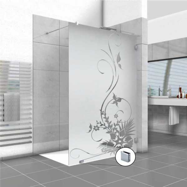 Frameless Fixed Shower Glass Panel FSS-0001