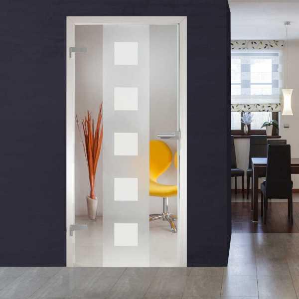 Hinged Glass Door (Model HGD-H+H-0043 Full-Private)