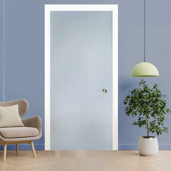 """++Sales Offers++ 47"""" x 80"""" Frosted Pocket Glass Sliding Door with Frosted Design PSGD-0160"""