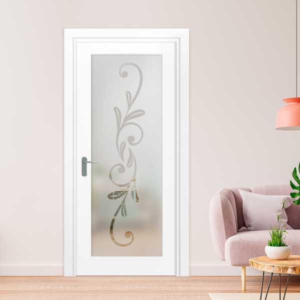 1 Lite Interior Door with Glass Insert (Model 1LID-0031 Semi-Private)